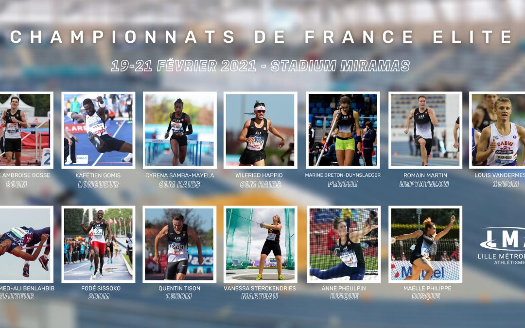 Athlètes aux championnats de France